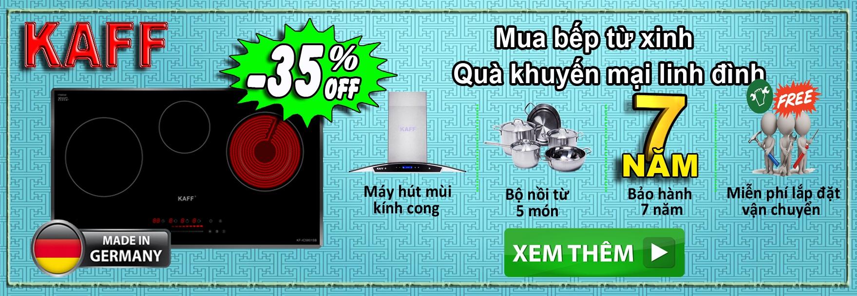 Kaff - Mua Bếp Tặng Hút Mùi + Bộ Nồi