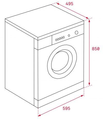 Máy Giặt Teka TK4 1270 – 7 Kg