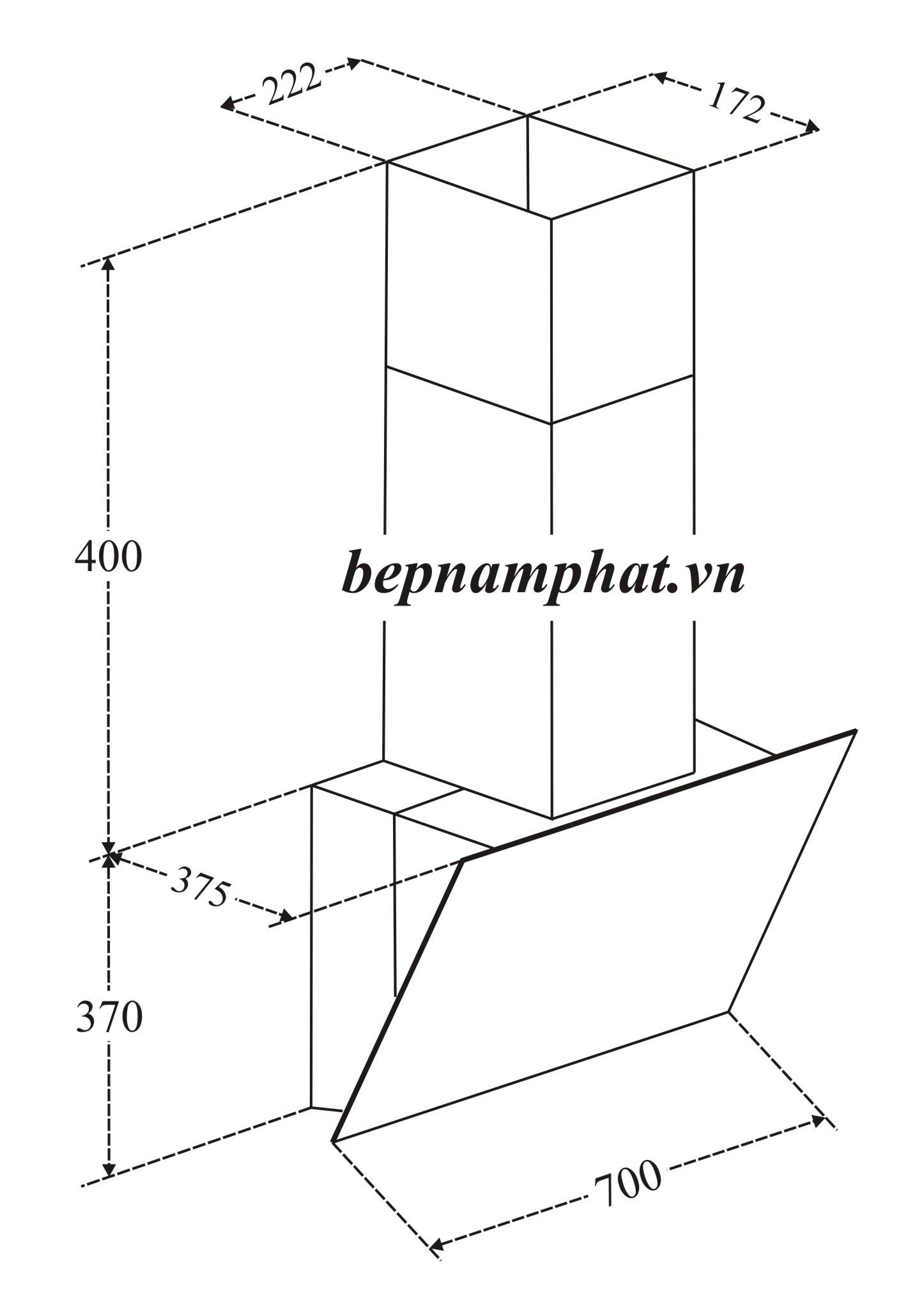 Máy Hút Mùi Binova BI-57-GT-07 – Bếp Nam Phát