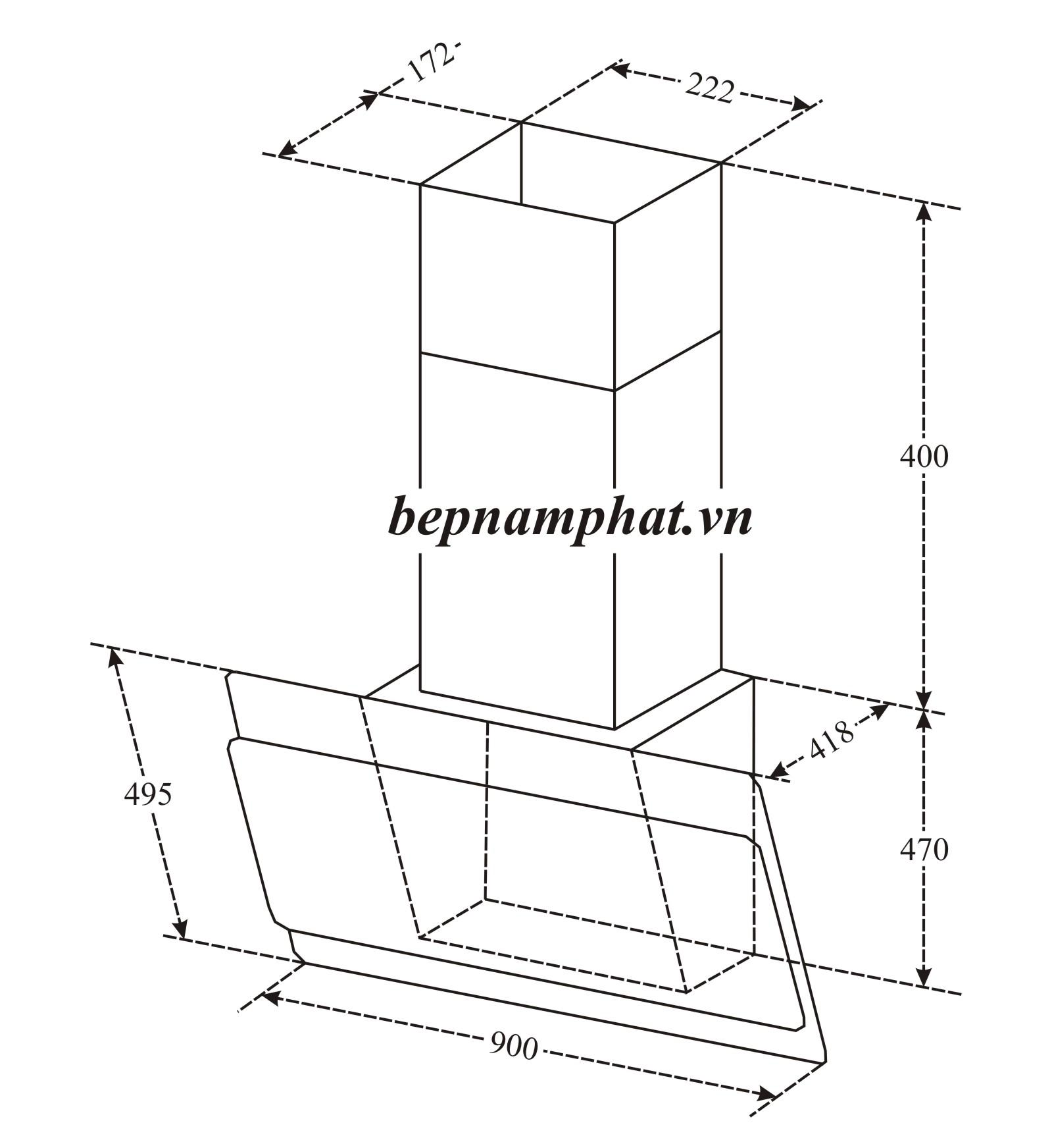 Máy Hút Mùi Binova BI-75-GT-09 – Bếp Nam Phát