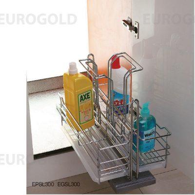 Giá đựng chai lọ tẩy rửa Eurogold EPSL300, Giá đựng chai lọ tẩy rửa Eurogold EGSL300