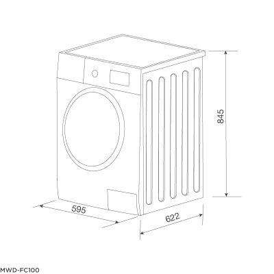 Máy Giặt Kết Hợp Sấy Malloca MWD-FC100